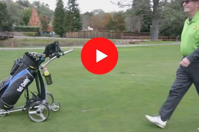 This Motorized Golf Caddy is a Must-Have for Solo Golfers
