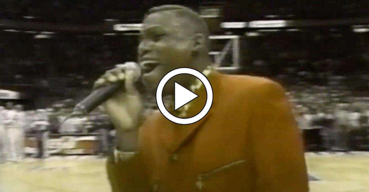 Carl Lewis' National Anthem Fail Never Stops Being Funny