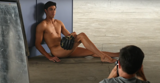 "Christian Yelich's ""Body Issue"" Photos Drove Ladies Wild"