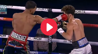 Boxer's One-Punch KO Sends Opponent Out of the Ring