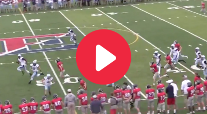 Female Kicker Obliterates Returner Along His Own Sideline