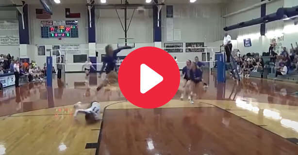 HS Volleyball Player Goes Full Superwoman to Make Incredible Save