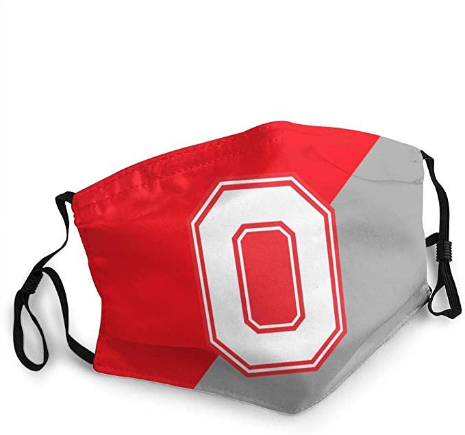 IRPONO University College Team Logo Dust-Proof Polyester Mask Washable Reusable Unisex Mask