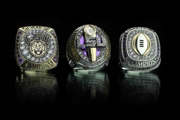 "LSU Shows Off Flashy Championship Rings for ""The Best Ever"""