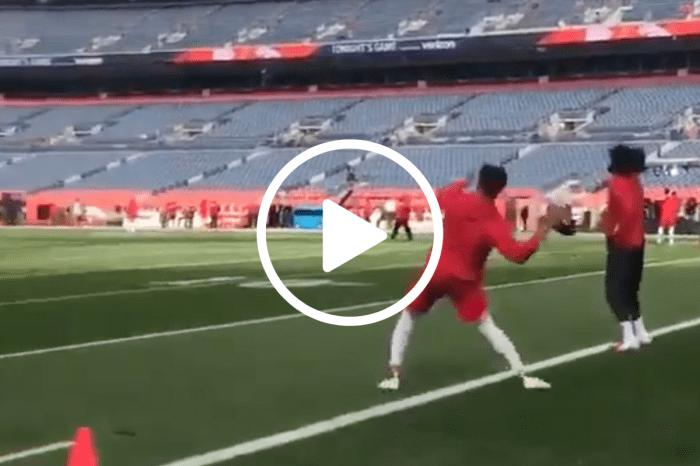 Patrick Mahomes Throwing a 90-Yard Bomb Doesn't Look Real
