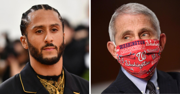 Kaepernick, Fauci to Receive Robert F. Kennedy Human Rights Award