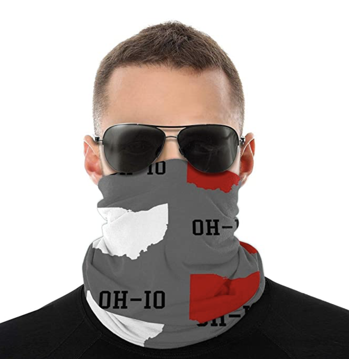Balaclava Tube Face Mask Ohio State Gray Seamless UV Sun Windproof Dustproof Neck Gaiter Scarf Upgraded Version Wider Coverage Cool Breathable Sports Leisure Worker For Men Women