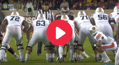 "Auburn's ""Hidden Human"" Trick Play Caught Texas A&M Completely Off Guard"