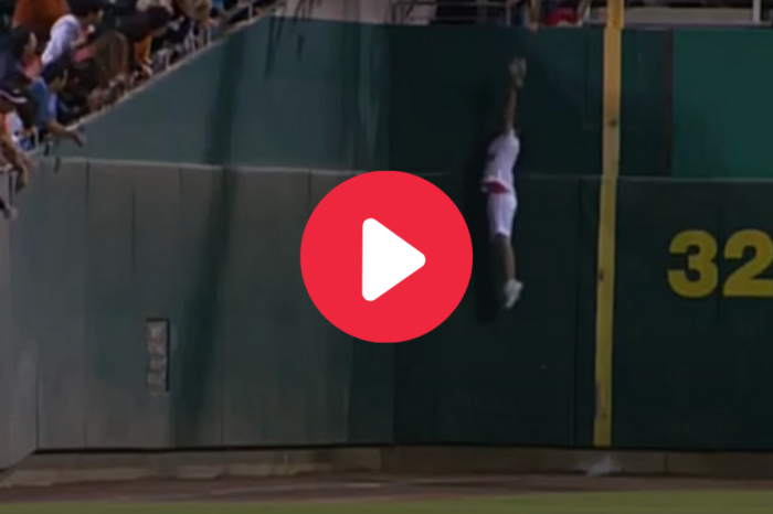 Ball Girl Goes Full Spider-Man to Catch Foul Ball