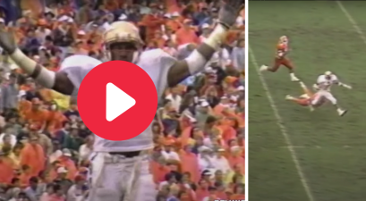 Deion Sanders Trash Talked Clemson's Coach, Then Housed a Punt 76 yards