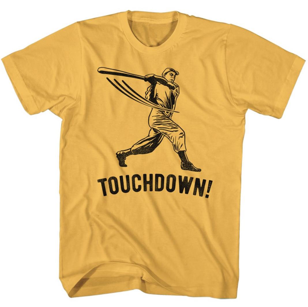Funny baseball shirt available at Walmart.