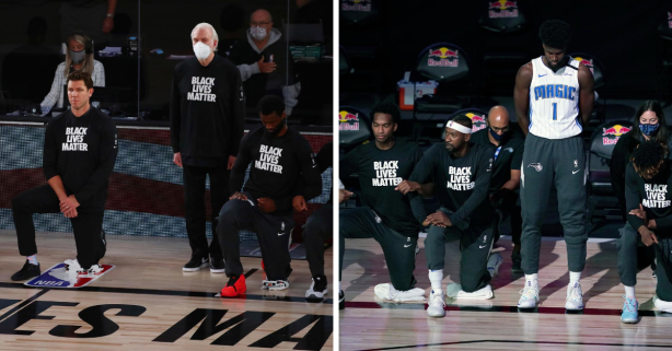 Popovich, Isaac Stand for National Anthem in NBA Bubble