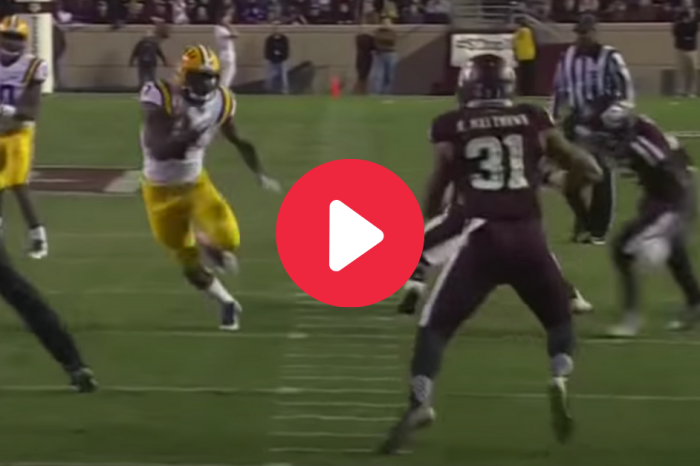 Leonard Fournette Trucked the Soul Out of Texas A&M Defender