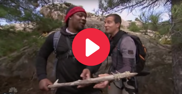 "Marshawn Lynch ""Ran Wild"" With Bear Grylls, And Slayed a Hog"