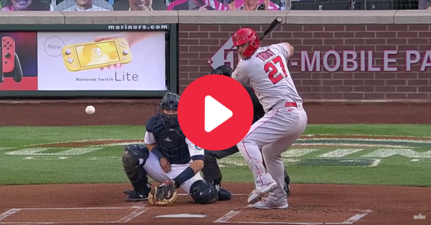 Mike Trout Hits Home Run in First At-Bat as a Father