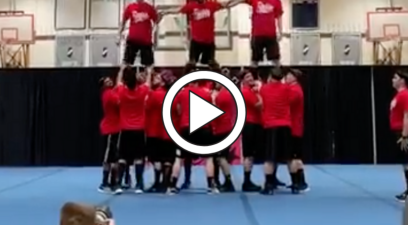 Cheer Dads Nail Perfect Routine at Daughters' Competition