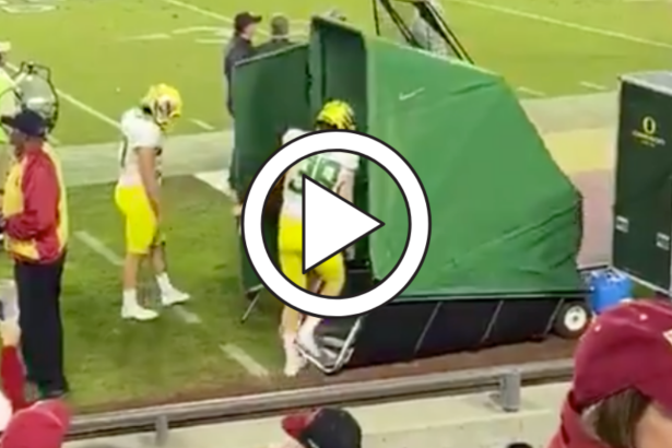 Oregon's Pop-Up Porta Potty is the Future of College Football