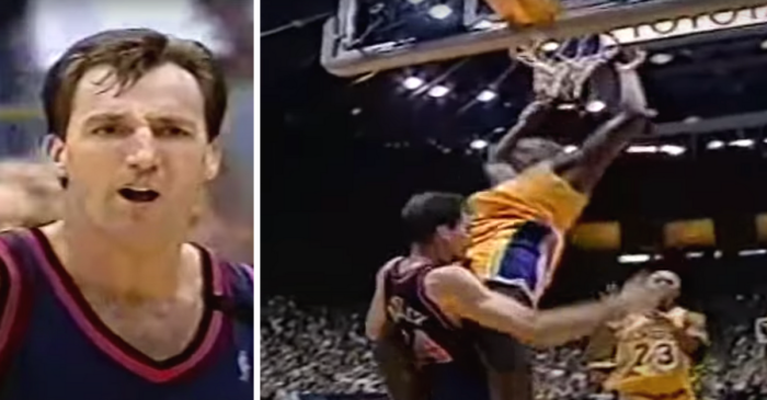 Shaq's Dunk on Chris Dudley Never Stops Being Disrespectful