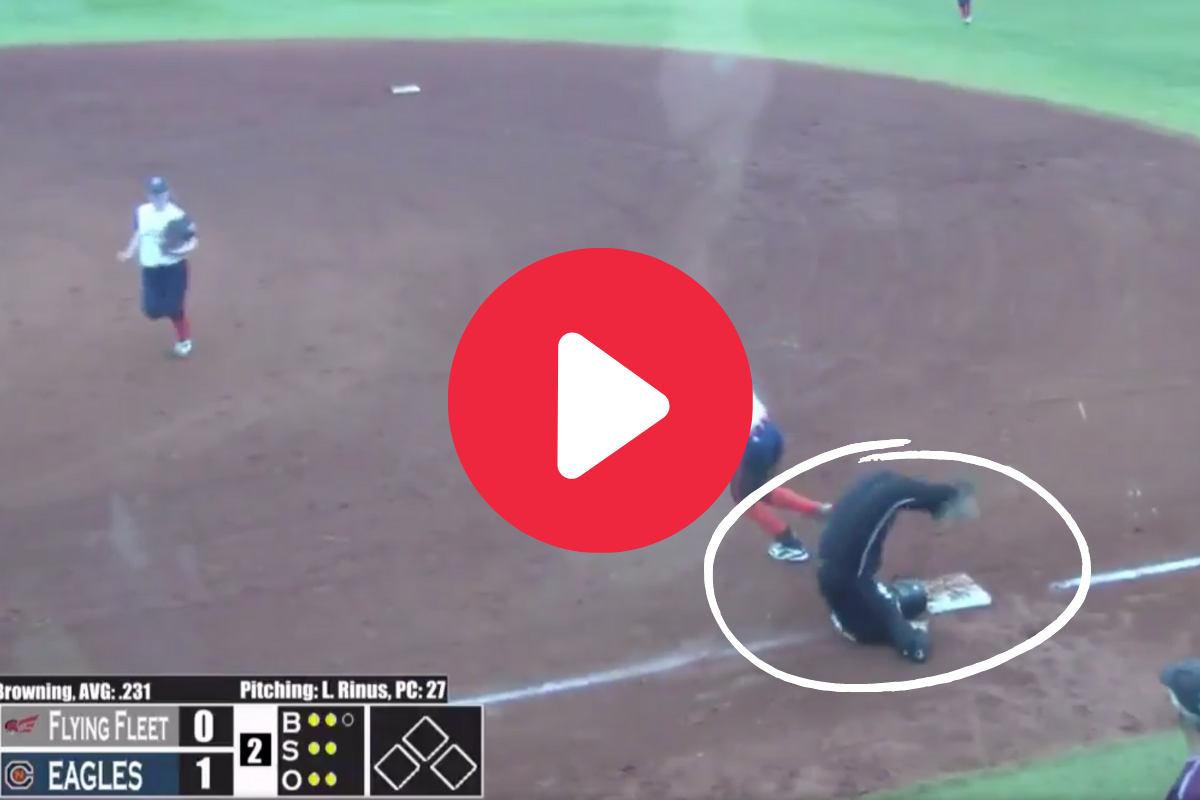 """Softball Player's """"Full Scorpion"""" Face Plant Looked Painful"""