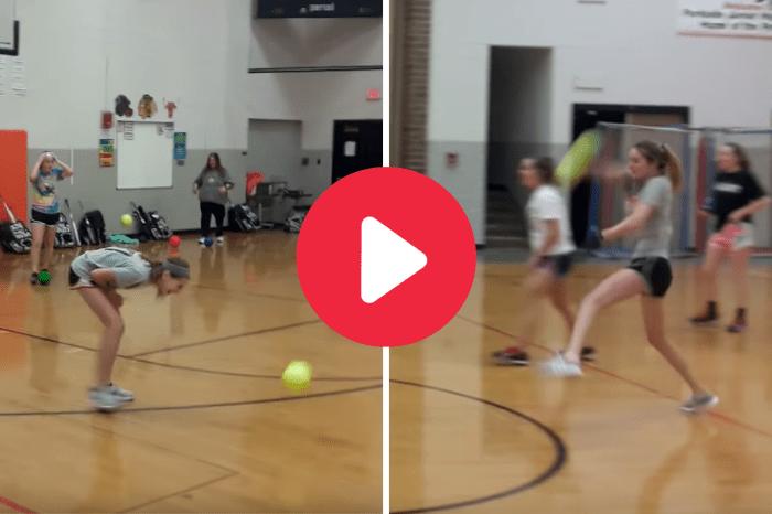 Softball Pitcher Fires Dodgeballs at Helpless Gym Class Opponents