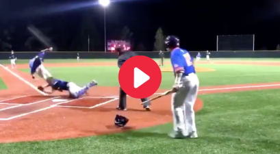 High Schooler Flips Over Catcher Mid-Slide for Winning Run