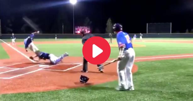 High Schooler Flips Over Catcher Mid-Slide for Winning Run