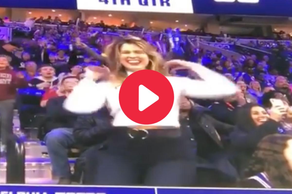 Beauty Queen Wows Crowd in Jumbotron Dance-Off