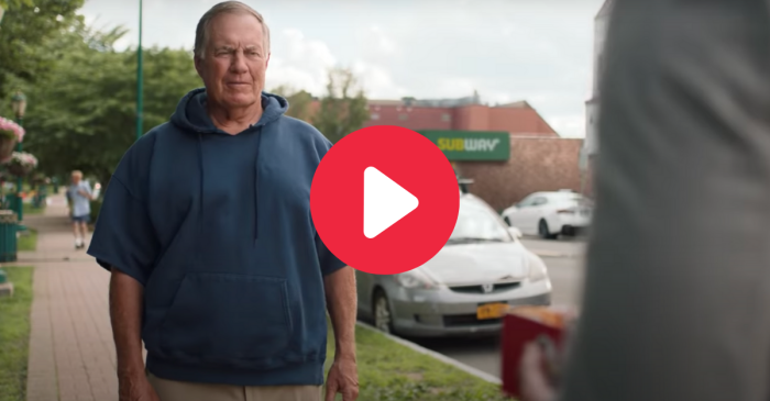 Bill Belichick's New Subway Commercial Really Brings Out His Personality