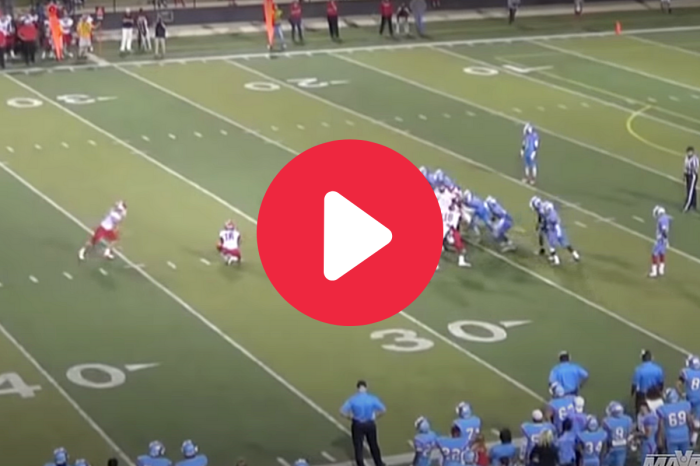 Female Kicker Drills 42-Yard Field Goal With Ease