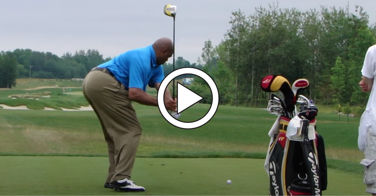 Charles Barkley Golf Swing: His Ugly Chop + Improved Swing ...