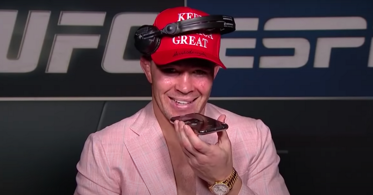 President Trump Calls Colby Covington During Post-Fight Interview
