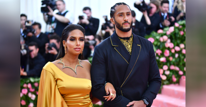 Colin Kaepernick's Girlfriend Always Has Her Man's Back