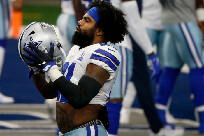 "Ezekiel Elliott's ""Feed Me"" Stomach Tattoo Didn't Make His Mom Happy"