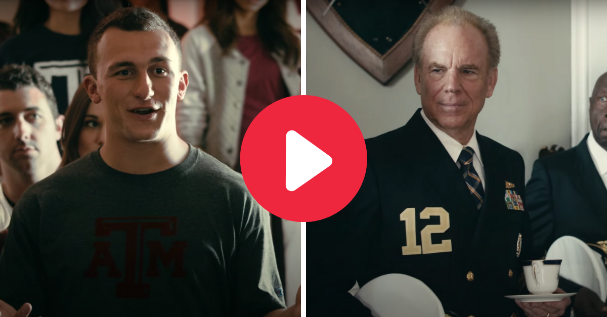 Johnny Manziel Hilariously Rooms With Roger Staubach in Heisman Commercial