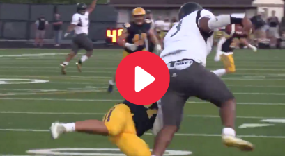 240-Pound QB/LB Goes Viral for Crazy Juke Moves & Crushing Hits