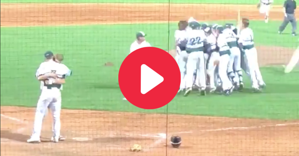 Pitcher Hugs Batter He Struck Out To End Championship Game