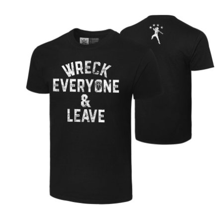 "Roman Reigns ""Wreck Everyone & Leave"" Authentic T-Shirt"