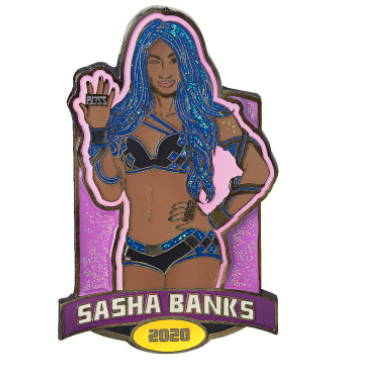 Sasha Banks Limited Edition Portrait Pin