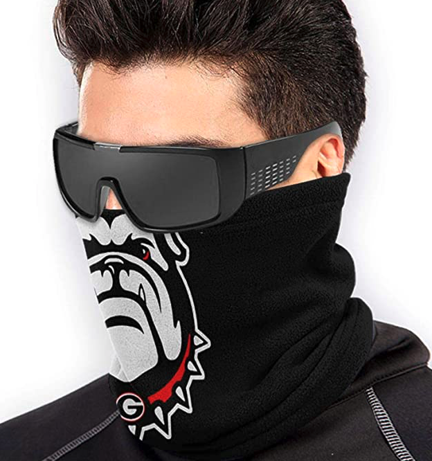 SPINGEND Georgia Bulldogs Unisex Neck Gaiter Face Dust-Proof Shield Scarf Face Mask Bandana Balaclava