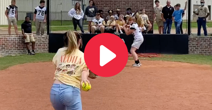 Softball Pitcher Strikes Out Cocky Football Team After $20 Bet