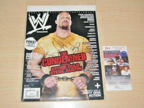 Stone Cold Steve Austin Signed May 2007 WWE Magazine JSA COA Autograph