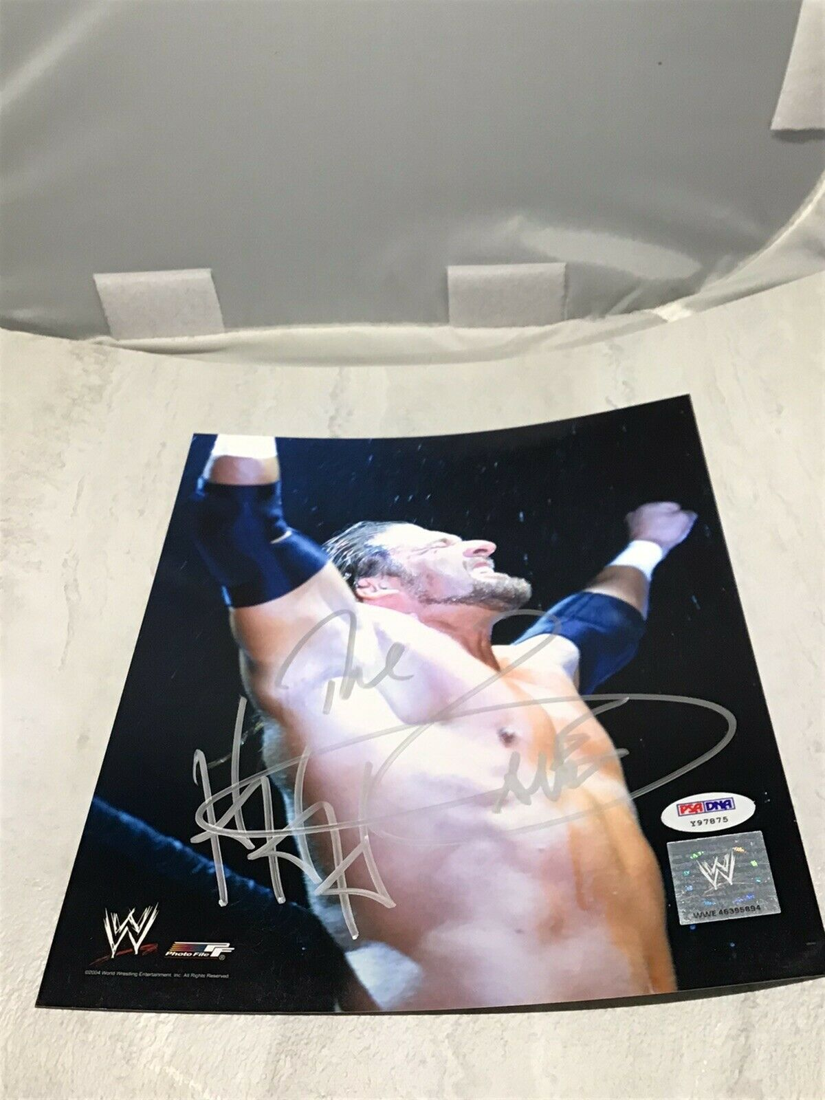 Triple H Signed WWE 8x10 Photo Wrestling Autographed PSA/DNA COA 1B