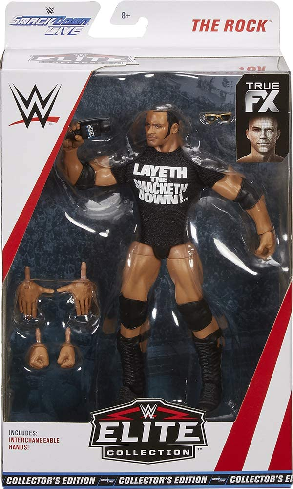 WWE Smakdown Live Elite Collection The Rock Exclusive Collector's Edition Action Figure
