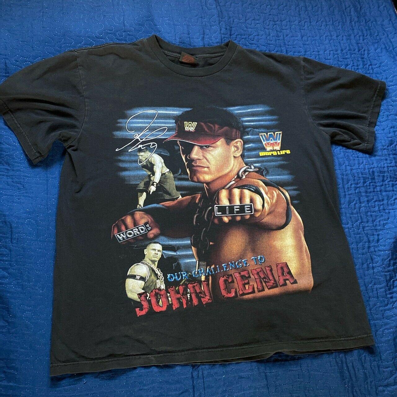 Word Life John Cena Vintage WWE Tshirt