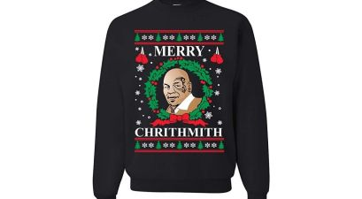 mike tyson christmas sweater