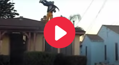 Backyard Wrestlers Attempt Piledriver Off Roof, And It Ends Horribly