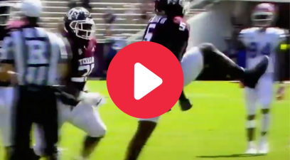 Texas A&M Lineman Injures Knee While Celebrating Sack