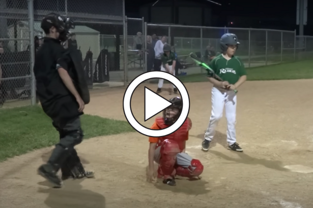 Drunk, Wobbling Umpire Can Barely Stand at Youth Game
