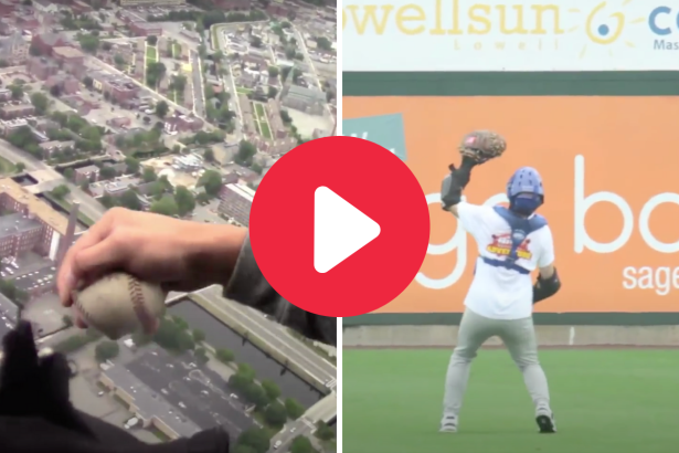 The World's Highest Baseball Catch Fell 1,000 Feet from a Helicopter