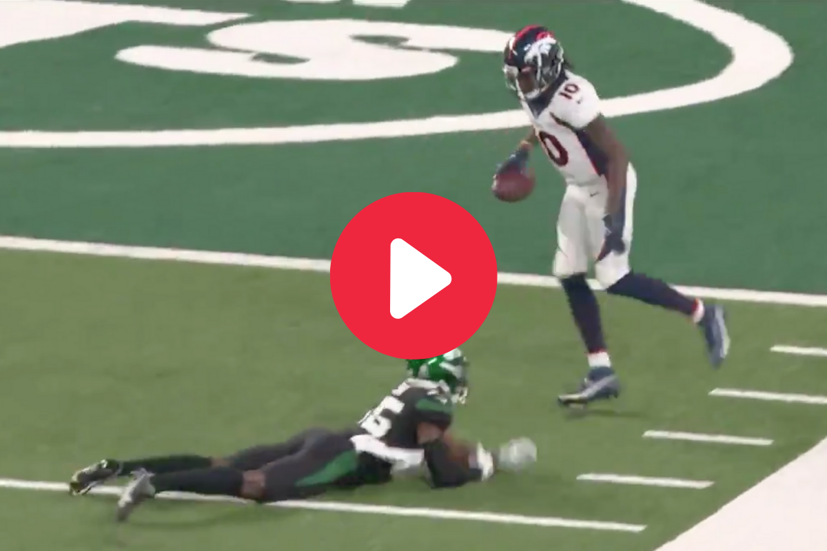 Jerry Jeudy Embarrasses Jets Defender for His 1st NFL TD